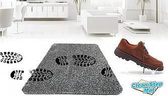Супервпитывающий придверный коврик Clean Step Mat. Моментально впитывает грязь, пыль и даже воду