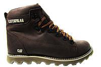 Мужские ботинки CAT польская кожа, мех Р. 41 42