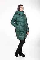 Женская зимняя куртка прямого силуэта 203 зелёный, фото 1