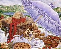 Картины по номерам 40 х 50 см. Утренний пикник.