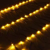 Гирлянда Сетка светодиодная, желтый 240 LED 3,5х0,7 м