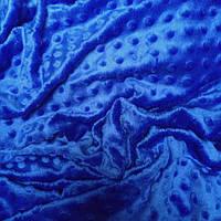 Плюш minky синего цвета