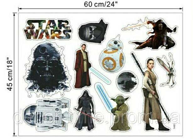 Прикольная интерьерная наклейка на стену Star Wars (027)