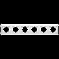 Шестерная горизонтальная рамка VIKO Carmen Белый