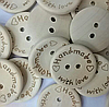 Пуговицы деревянные Handmade with love, 2,5 см