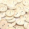 Пуговицы деревянные Handmade with love, 1,5 см
