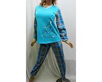 Пижама с длинным рукавом на байке, на манжетах, Харьков