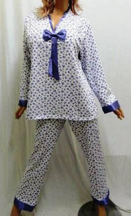 Пижама с длинным рукавом на байке большого размера 50,52,54, Харьков, фото 2