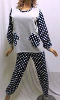Пижама с длинным рукавом на байке, штаны в клетку, Харьков