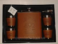 Подарочный Набор Виски Jim Beam (Фляга 540 мл/4 стопки/лейка)