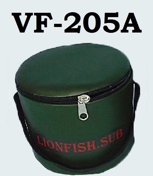 Сумка - Ведро LionFish.sub для прикормки 5 л с крышкой на молнии и ручкой ПВХ