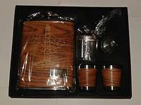 Мужской подарочный набор Парусник (фляга 240 мл, 2 стопки, походный кальян , лейка)