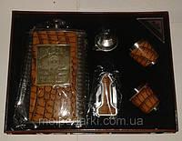 Подарочный Набор Виски Jim Beam  (Фляга270 мл/2 стопки/брелок/лейка)