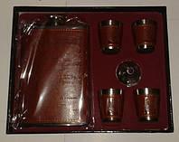Мужской Подарочный набор 10 алкогольных заповедей:Фляга,Стопки,Лейка,Открывалка