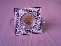 Декоративный встраиваемый (врезной, точечный) светильник Feron DL2008S. Витринный образец.