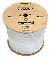 Кабель коаксиальный BiCoil F660BV FROST 75 Ом белый, фото 1