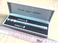Лазер диджея с насадкой Green laser Pointer 200 мВт новый в наличии