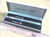 Лазер диджея с насадкой Green laser Pointer 200 мВт, фото 1