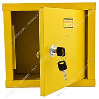 Ящик метал под регулятор давления газа (РДГС) (260*240*190) желтый с задней стенкой