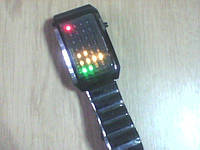 Стильные бинарные LED часы из 28 светодиодов, фото 1