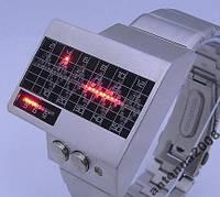 Уникальные бинарные часы с красными светодиодами, фото 1
