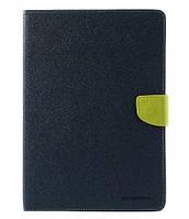 Чехол (книжка) Mercury Fancy Diary series для Apple iPad Air 2 Синий / Лайм