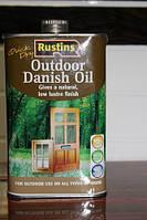 Датское масло для внешних работ, Danish oil, 0.5 litre, Rustins