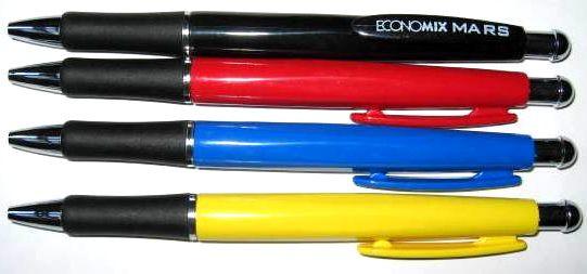 Ручка шар. авт. Economix MARS 10111 ассорти синяя