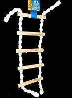 Веревочная лестница для попугая (5 ступеньки)