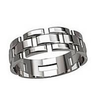 Кольцо серебряное Часовой Ремешок