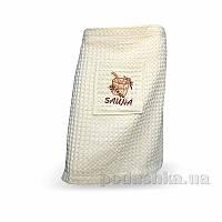 Полотенце вафельное для сауны Home Line кремовое 55х160 см