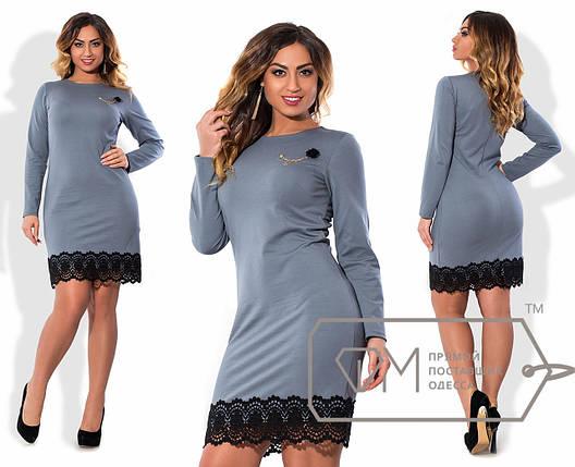 Купить Платье с кружевом батала оптом и в розницу в Одессе от ... 4345a1a691a