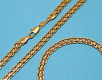 Набор:цепочка длинна 57 см.ширина 5 мм. и браслет длинна 21,5 см.ширина 4 мм. Позолота с лимонным оттенком