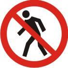 """Знак """"Вхід (прохід) заборонено"""" 100 мм, Пластик"""