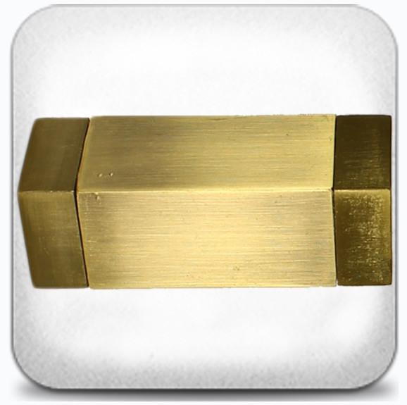 Квадро д.16мм антик/золото мат.