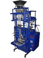 Фасовочно упаковочный автомат на сжатом воздухе для фасовки в пакеты «стик» с тремя объемными дозаторами
