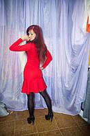 Платье молодежное  красное
