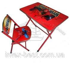 Детская парта DT 19-1 – столик со стульчиком Человек Паук , фото 2