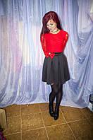 Платье нарядное молодежное с гипюром