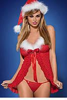 Новогодний эротический костюм babydoll