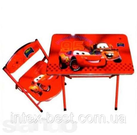 Детская парта DT 19-2 – столик со стульчиком Тачки , фото 2