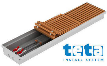 Внутрипольный конвектор Teplobrend Т 230mini 230х750х75 1000 x 75
