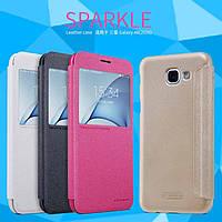 Кожаный чехол Nillkin Sparkle для Samsung Galaxy A8(2016) (4 цвета)