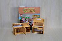 Набор мебели  в коробке для домика с флоксовыми животными