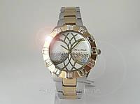 Часы Alberto Kavalli золото с кристаллами светлый циферблат