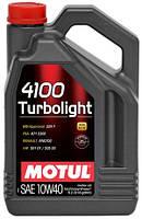 Полусинтетическое моторное масло Motul 4100 Turbolight 10W-40 5л