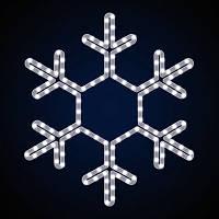 Світлодіодна фігура сніжинка SN-0.6x0.6. Світлове прикраса. LED гірлянда. Новорічна гірлянда.