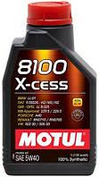 Синтетическое моторное масло Motul 8100 X-cess 5W-40 1л