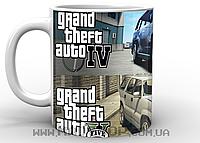 Кружка ГТА GTA gta5 vs gta4