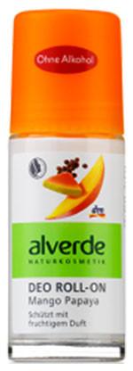 Шариковый дезодорант манго и папайя Alverde 50мл стекло